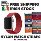 For Apple Watch Nylon Sport Loop Woven Strap Band SERIES 6/SE/5/4/3/2/1 ALL <br/> Irish Stock ⭐ Free Post ⭐ Same Day Dispatch ⭐15 COLOURS