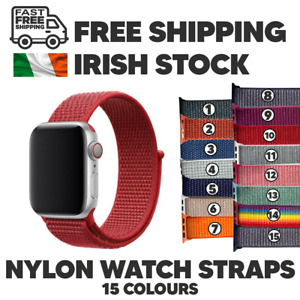 Apple Watch iWatch Nylon Sport Loop Woven Strap Band Series SE 6/5/4 - 38 & 42MM
