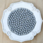 1cm LIGHT GREY Felt Wool Balls - CHOOSE QUANTITY - handmade beads pom pom craft