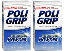 Super PoliGrip Denture Adhesive Powder 2 Box Pack