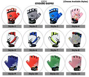 3S SPORTS CHILDREN KIDS BOYS GIRLS PADDED CYCLING GLOVES BMX BIKE CYCLE BICYCLE
