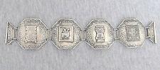 Peru vintage massive silver sterling 925 Inca Lama link Bracelet, 47gr.