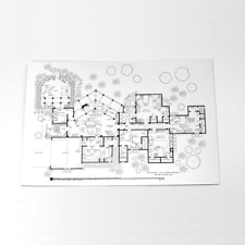 Vintage Blueprints Posters Prints Not Signed For Sale In Stock Ebay,2 Bedroom House Plans With Basement