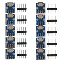10x MICRO USB to DIP Adapter 5pin Female Connector B Type PCB Converter
