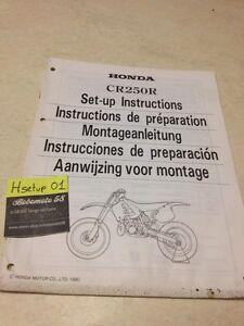 Honda CR250R CR250 R Cr 250 250CR Instrucciones Preparation Instalacion Manuel