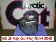 Arctic Cat OEM Silencer, Intake Assy # 0110-824 Vintage '74 Lynx II