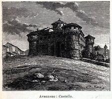 AVEZZANO: Castello Orsini-Colonna. Marsica. L'Aquila. Abruzzo. Passepartout.1901