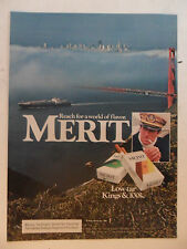 1984 Print Ad MERIT Cigarettes ~ San Francisco Golden Gate Bridge