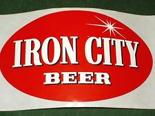 Vintage Iron City Beer Oval Sticker Decal Pittsburgh PA Laptop Guitar Case