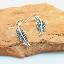 Marcasite Dangling Leaf Earrings Sterling Silver Wholesale Price