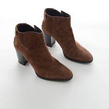 TOD's Designer Damen Schuhe Stiefeletten Ankle Boots Wildleder Gr 38,5 Braun Neu