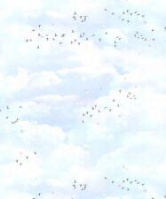 Muriva Fly Away Carta da parati Multi 102569 BAMBINI BIMBI NURSERY nubi Uccello Dots
