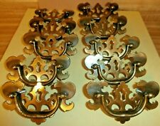 Lot of 10 Vintage Drawer Pulls Cabinet Handles 9 with Mounting screws