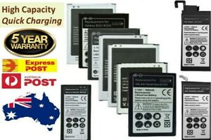 NEW Li-ion Replacement Battery For Samsung Galaxy S4 S5 S6 S7 edge Note 5 8 9