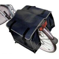 New Large Black Double Rear Pannier Bike Bag Water Resistant Cycle Rack Carrier