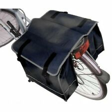 Large Black Twin Rear Bike Rack Travel Waterproof Commuter Shopping Pannier bags