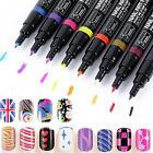 16 Colors Nail Art Pen Polish Painting Dot Drawing UV Gel Design Manicure Tool