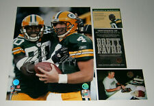 PACKERS Brett Favre & Donald Driver signed 11x14 photo COA HOLO AUTO Autographed
