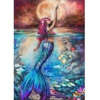 Full Drill 5D Diamond Painting Wall Decor Embroidery Cross Stitch Kits Mermaid