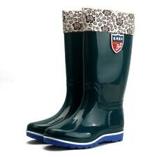 Ladies Womens Long Wellies Wellington Work Boots High Calf Fur Lined Shoes Size