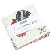 SWEET CHRISTMAS Moda 4 MINI charms Urban Chiks quilting sewing Fabric 31150MC