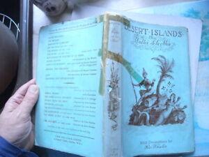 Rex Whistler 1947  Desert Islands & Robinson Crusoe W De La Mare FABER IN DW