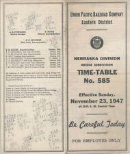 UNION PACIFIC RR,NEBRASKA DIVISION;BRIDGE SUB:1947 ETT's Nos.585 & 586.SR No.15!