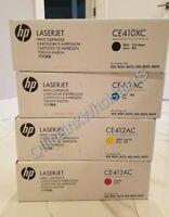 """""""Set of 4"""" Toner Original HP 305X CE410X 305A CE411A CE412A CE413A BK C M Y"""