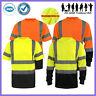 Mens Hi Vis T Shirt 3M Reflective Tape ANSI Class 3 Safety Shirt Black Bottom