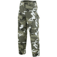 Ranger Army Cargo Combat Mens Work Trousers US BDU Pants Urban Camouflage S-3XL