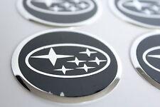 Autocollant Sticker Centre de Roue Cache Moyeu Jante Alu pour SUBARU 4 x 60mm