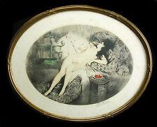 """""""les cerises """" signé Paul Emile FELIX nu de femme nake nude woman c1930 120/350"""