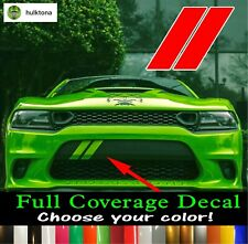 Custom Stripes Fits Dodge Charger 2015-2019 Hash Marks Front Bumper Decal