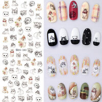 Nail Art Water Decal  Transfer Stickers Decoration Lovely Cat Design DIY