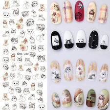 Nail Art Water Transfer Decal Manicure Stickers Lovely Cartoon Cats Design