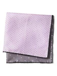 NEW Banana Republic Men Silk 4 in 1 Polka Dot Pocket Square Blue Handkerchief