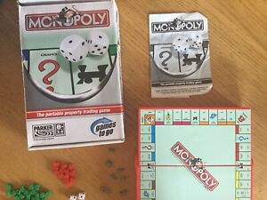 Monopoly. Travel game. By Parker. Games To Go. Complete. 2005