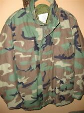 USMC Army Military Surplus M65 Field Coat Winter Jacket Medium Long Woodland GI