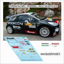 DECALS 1/43 CITROEN DS3 WRC PEDERSOLI RALLY SALENTO 2019