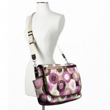 Coach Signature Snaphead F18377 Pink Multifunction Diaper Baby Messenger Bag NWT