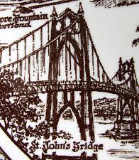 Vintage PORTLAND (Artist: Klinker) Sepia Brown Collector Plate, Vernon Kilns