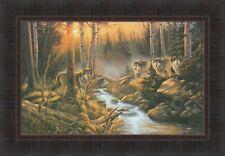 SHADOW OF THE FOREST by Derk Hansen 18x26 Wolf Pack Wolves FRAMED ART PICTURE