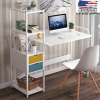 107CM Wood Computer Table Study Desk Office Furniture PC Laptop Workstation Home