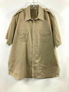 CABELAS Safari Series Mens Short Sleeve Button-up Shirt Khaki Mens XXL Tall