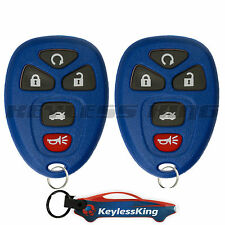 2 Replacement for Chevy Impala - 2006 2007 2008 2009 10 11 12 13 5b Remote Blue