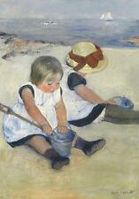 Wentworth Children Playing on the Beach 250 Piece Cassatt Wooden Jigsaw Puzzle