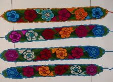 "Flower Belts Embroidered Colorful corset Adjustable with tie 4"" width 38"""