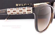 Brand New BVLGARI Sunglasses 8104 977/13 Havana/Brown Gradient for Women Size 57