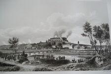 NAPOLEON COMPBAT D'EBERSBERG GRAVURE 1838 VERSAILLES R1158 IN FOLIO