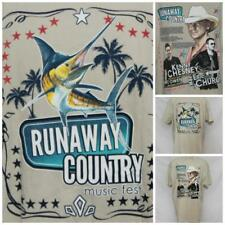 "Kenny Chesney Eric Church Runaway Country Tshirt Sailfish XXL 26"" Pit2Pit J-29"